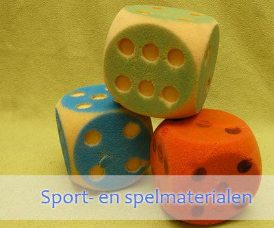 Sport- en spelmaterialen